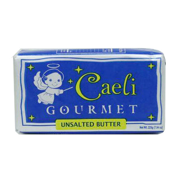 butter unsalted 225g, caeli (product may melt during transit)