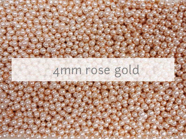dragees rose gold 4mm