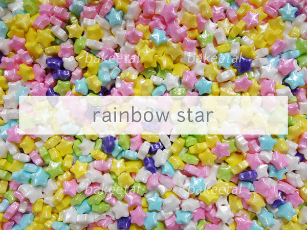 dragees rainbow star 7mm