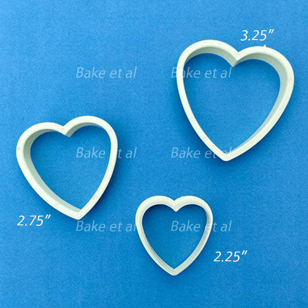 heart cutter set white shallow
