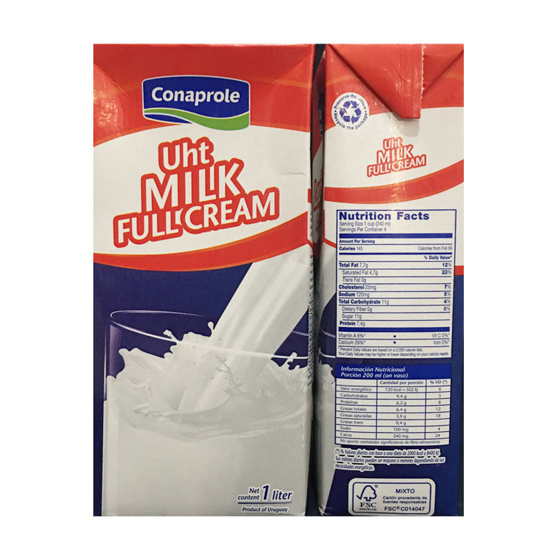 full cream milk 1L, conaprole