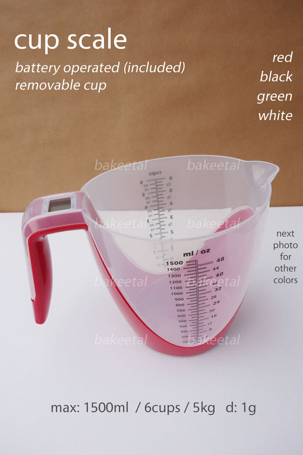 digital weighing scale cup