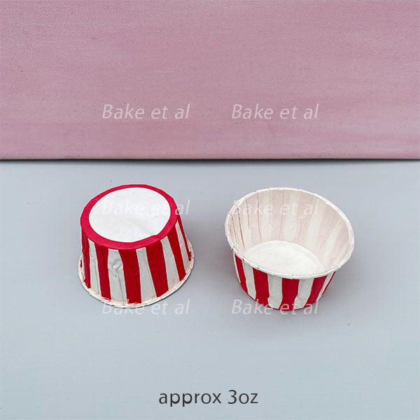 baking cup 3oz (100s) red stripes