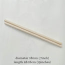 wood dowel 18mm (2pcs)