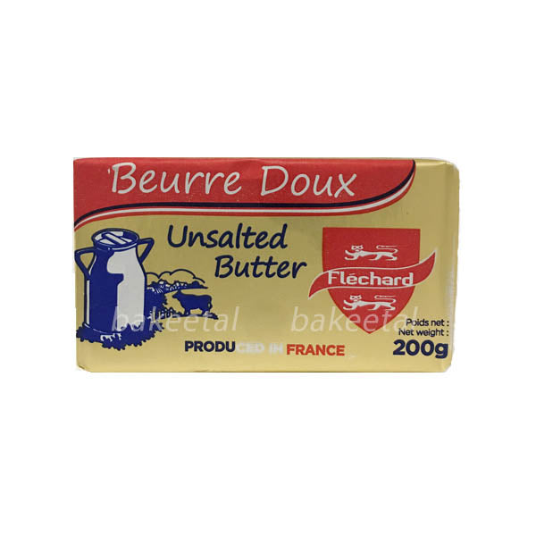butter unsalted 200g, flechard (product may melt during transit)