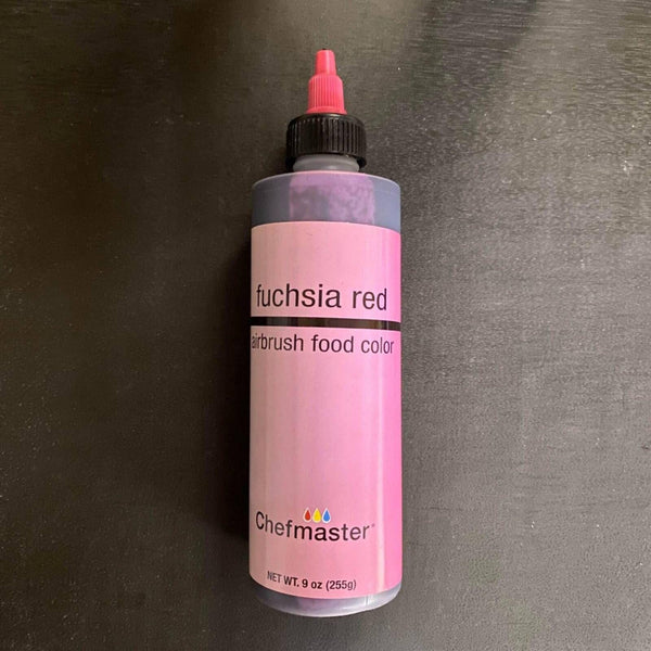 fuchsia red 9oz airbrush, chefmaster