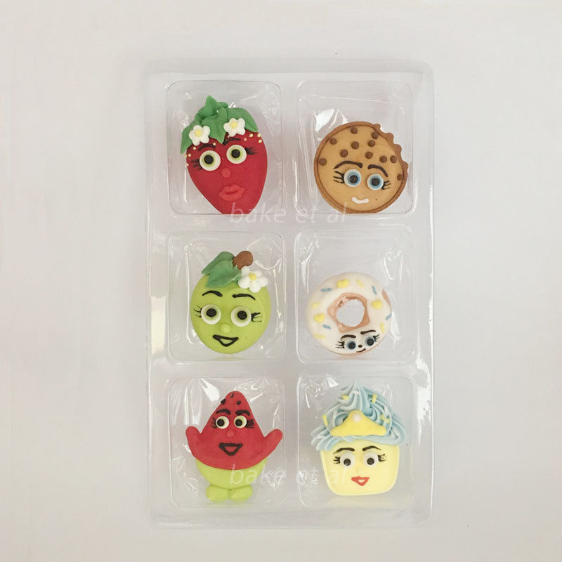 royal icing topper fruits