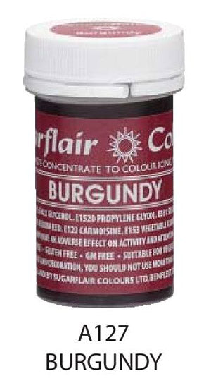burgundy paste 25g, sugarflair