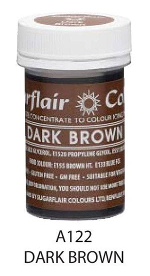 dark brown paste 25g, sugarflair