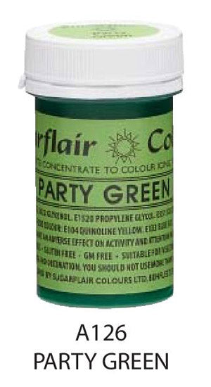 party green gel, sugarflair