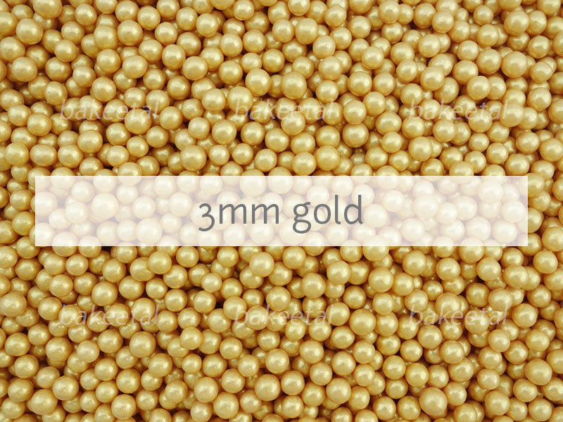dragees gold 3mm