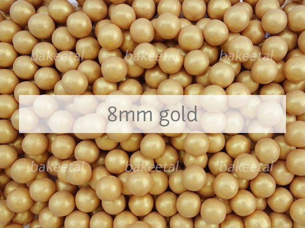 dragees gold 8mm