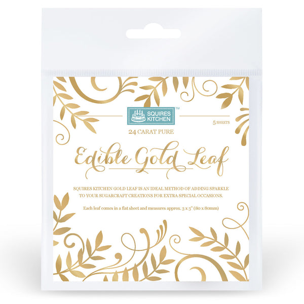edible gold leaf, squires kitchen