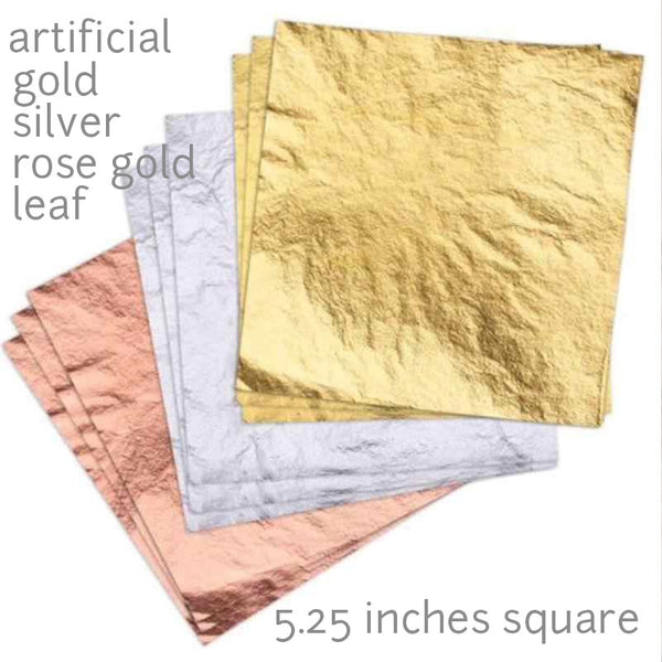 artificial rose gold leaf 10pcs