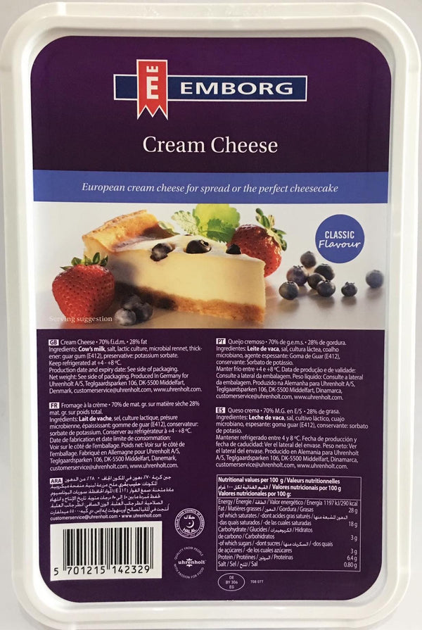 creamcheese 1.5kg, emborg (product may melt during transit)