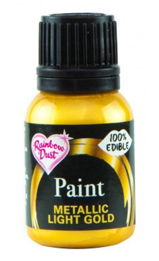 light gold metallic paint 25ml, rainbow dust