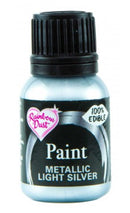 light silver metallic paint 25ml, rainbow dust