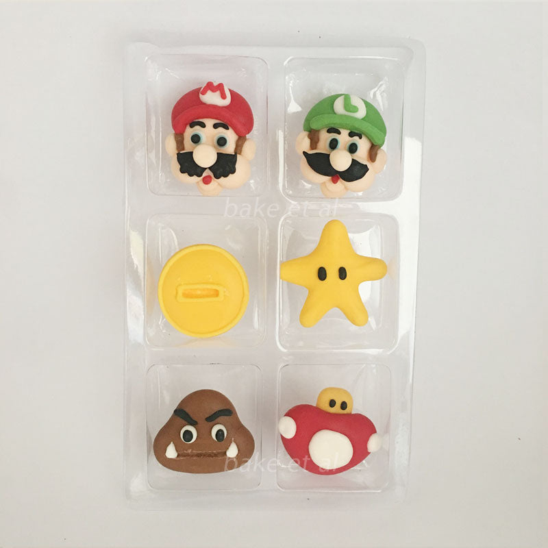 royal icing topper mario
