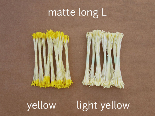 stamen matte long L light yellow