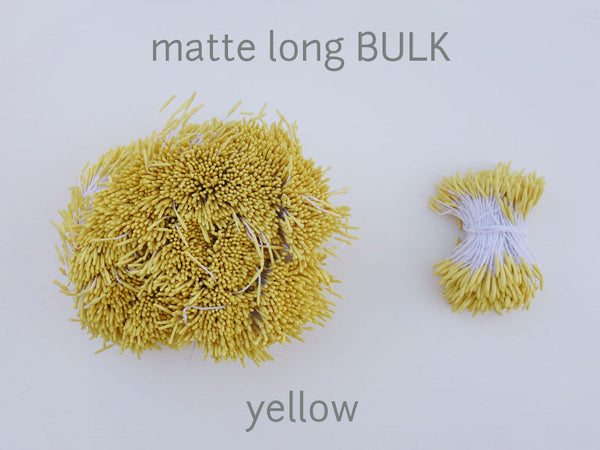 stamen matte long yellow bulk