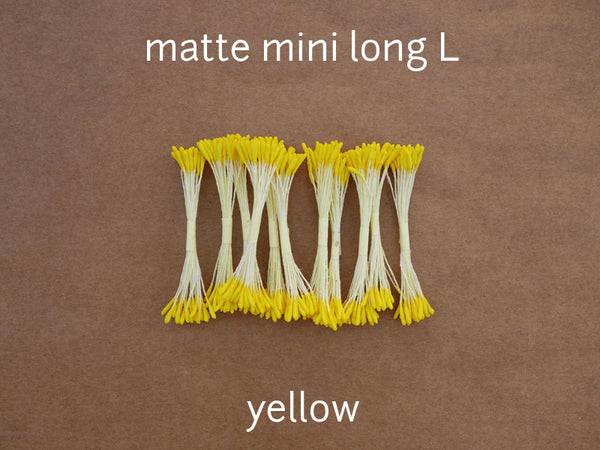stamen matte mini long L yellow