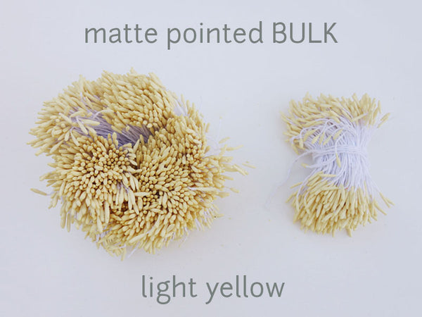 stamen matte pointed light yellow bulk
