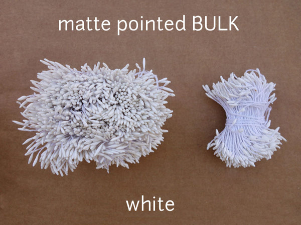 stamen matte pointed white bulk