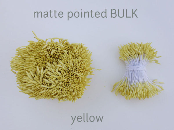 stamen matte pointed yellow