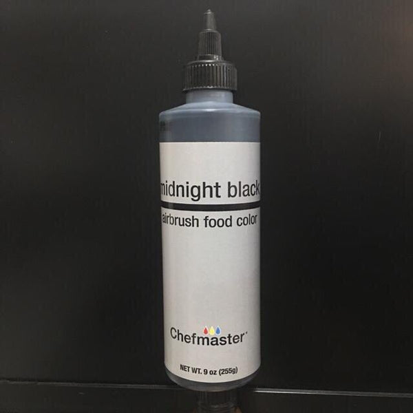 midnight black 9oz airbrush, chefmaster