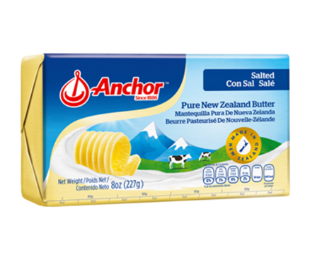 butter salted 227g, anchor (product may melt during transit)