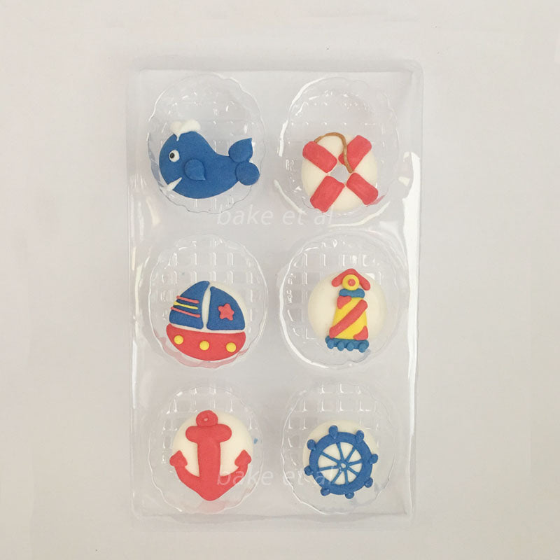 royal icing topper nautical