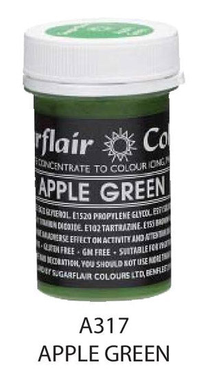 apple green pastel paste 25g, sugarflair