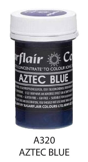 aztec blue pastel paste 25g, sugarflair