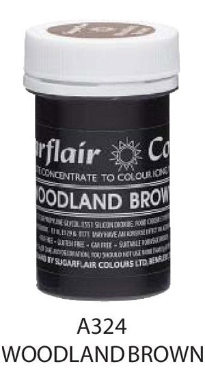 woodland brown pastel paste 25g, sugarflair