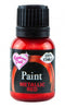 red metallic paint 25ml, rainbow dust