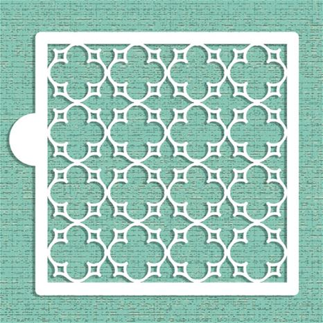 parisian lattice tile stencil