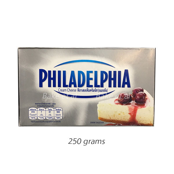 cream cheese 250g, philadelphia (product may melt during transit)