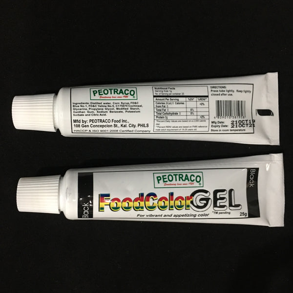 black, peotraco gel