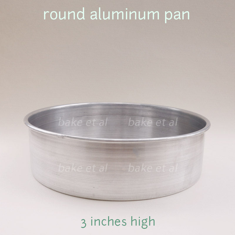 round baking pan 3inches high