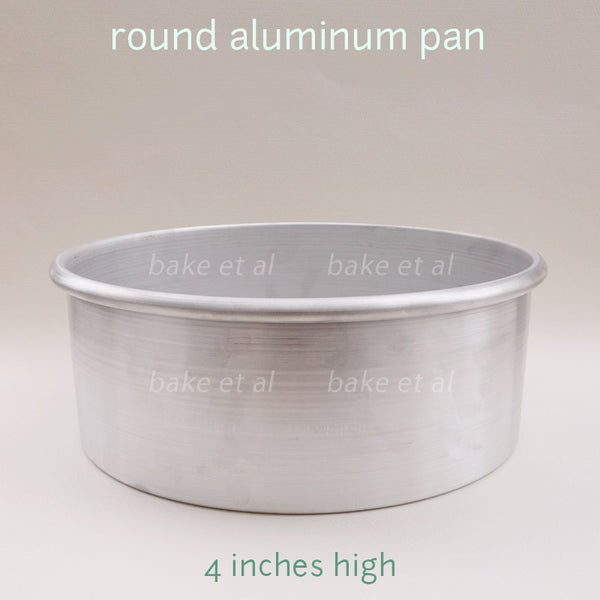 round baking pan 4inches high