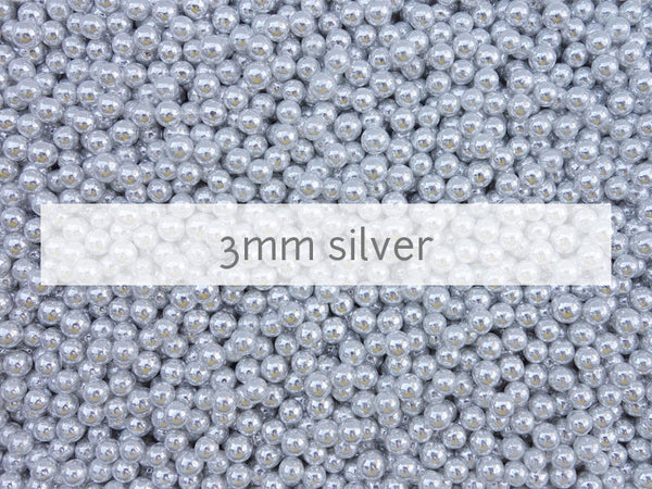 dragees silver 3mm