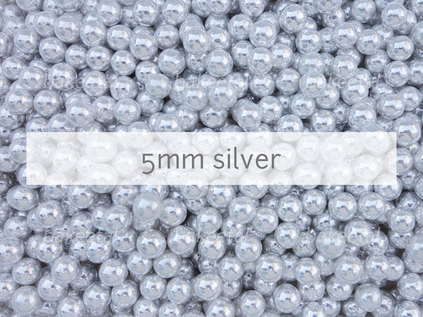 dragees silver 5mm