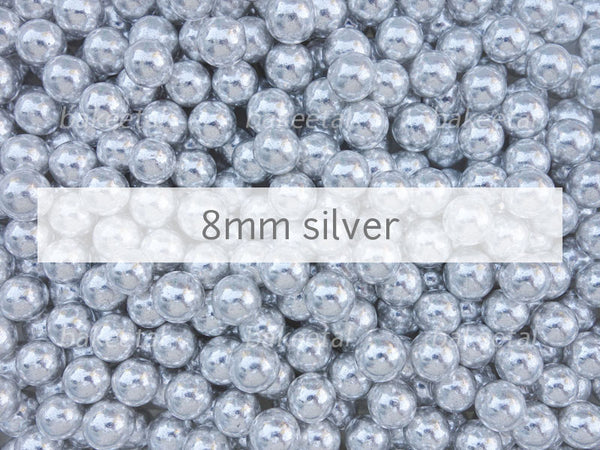dragees silver 8mm