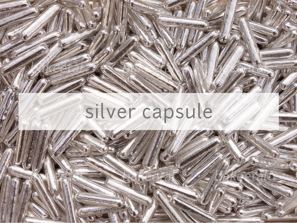 dragees silver capsule
