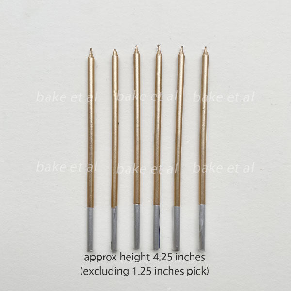 candle stick 6pcs bronze