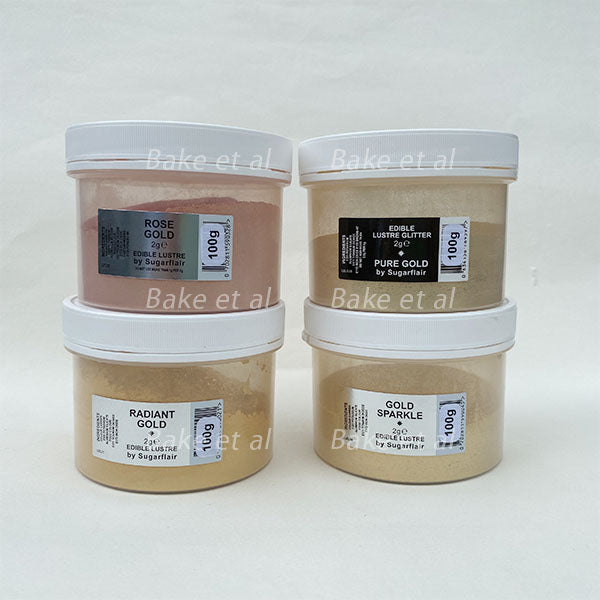 100g gold lustre dust, sugarflair