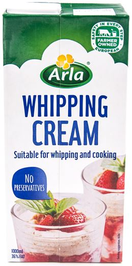 whipping cream 1L, arla (product may melt during transit)