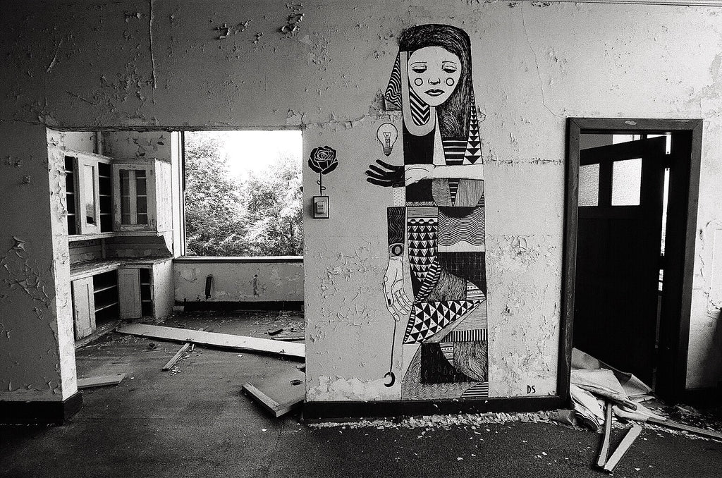 Detroit Michigan Black White Photography Urban Decay Abandoned Classroom Fine Art Black And White Photography By The Andy Moine Company