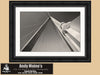 Arthur Ravenel Bridge, Charleston, Black and White Photo, Framed Print