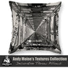 Double Decker Railway Bridge, Designer Black & White Throw Pillow, Awatere, New Zealand